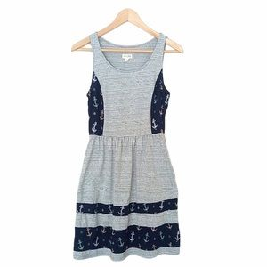 Maison Jules Anchor Dress With Pockets Summer